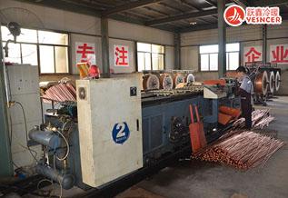 铜管校直弯管机_风机盘管表冷器加工设备