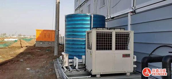空气能热泵一体机施工现场