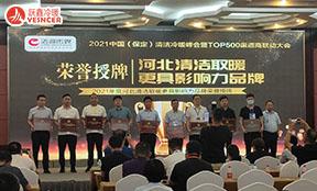 2021年度河北清洁取暖更具影响力品牌荣誉授牌 跃鑫提名