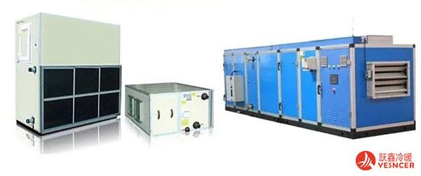 空气处理机组(左:立/卧式,中:吊顶式,右:组合式)