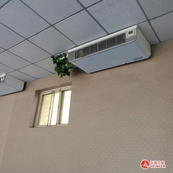 立式明装风机盘管挂起来安装