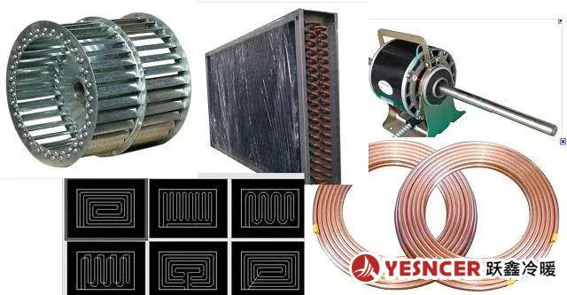 风机盘管配件_低噪音电机_盘管及样式_叶轮